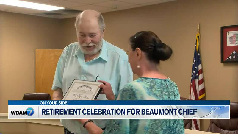 Penton was awarded a certificate to honor his time working for the city and was also granted a...