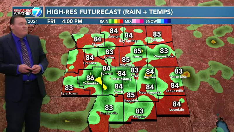 Thursday looks to be partly cloudy with a 40% chance for showers and thunderstorms.