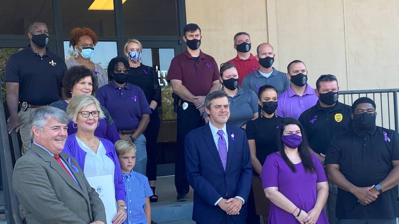 Hattiesburg officially declared October as Domestic Violence Awareness Month.
