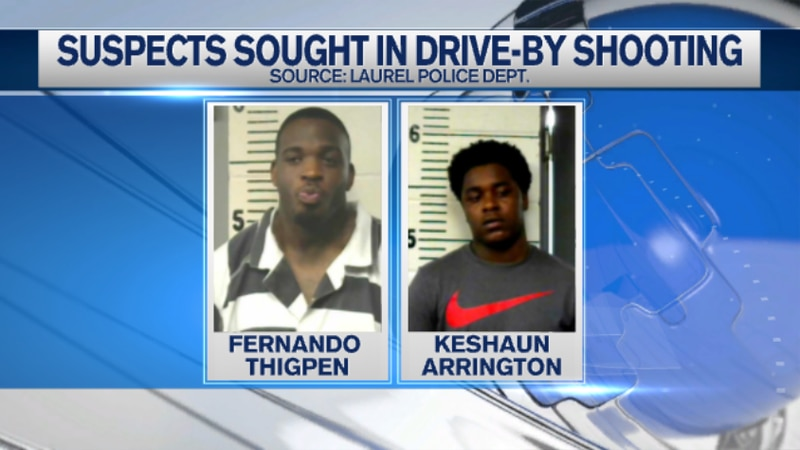 Fernando Thigpenand Keshaun Arrington are wanted by Laurel police.