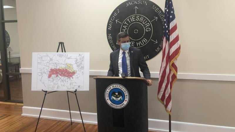 Mayor Toby Barker discussed the settlement during a Thursday morning news conference.
