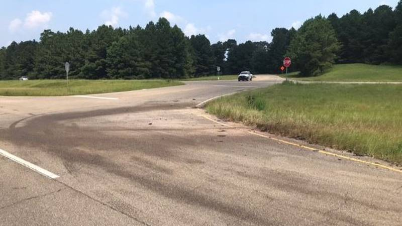 A woman was killed in a crash on U.S. Highway 84 at Masonite Lake Road in Jones County.