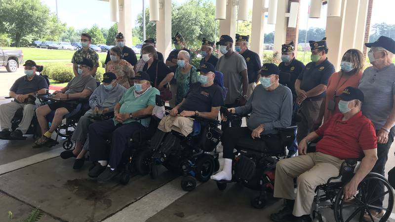 The American Legion and church group delivered donations to veterans Thursday morning.