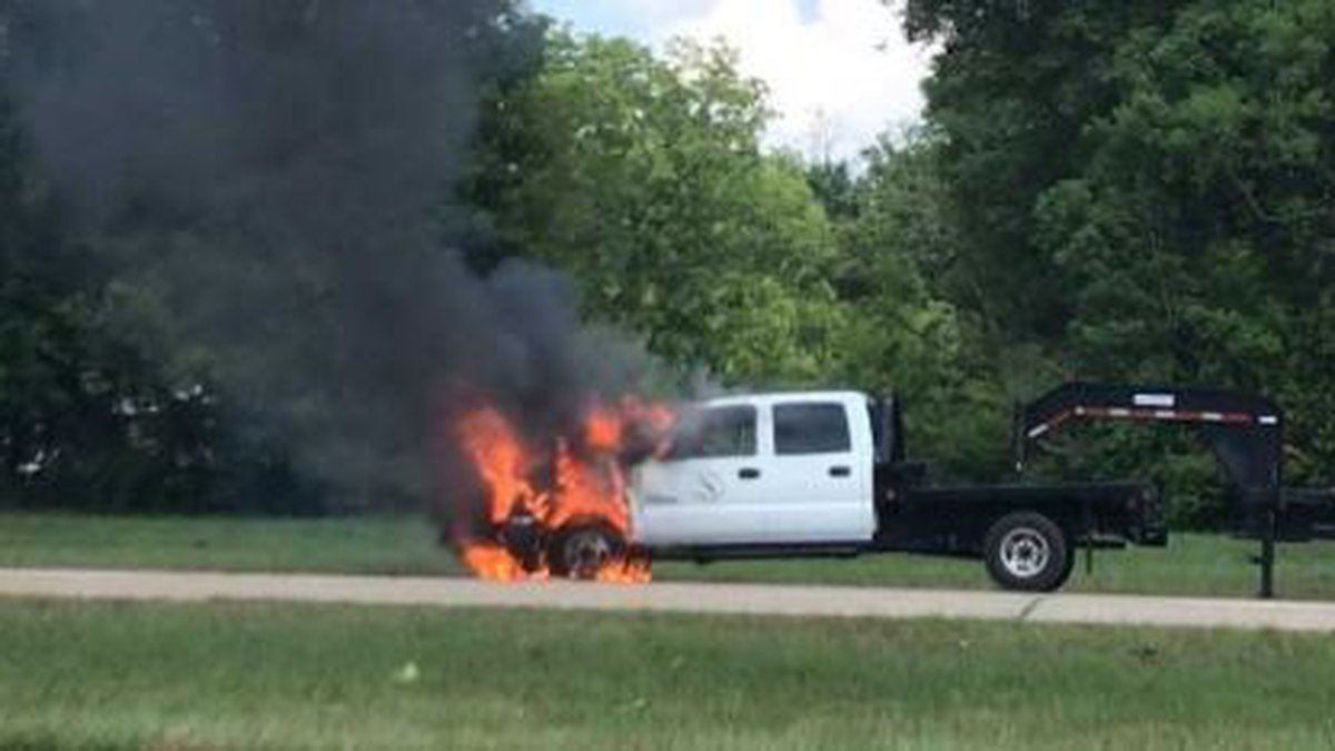 The aftermath of a truck fire is causing traffic delays in the northbound lanes of Interstate...