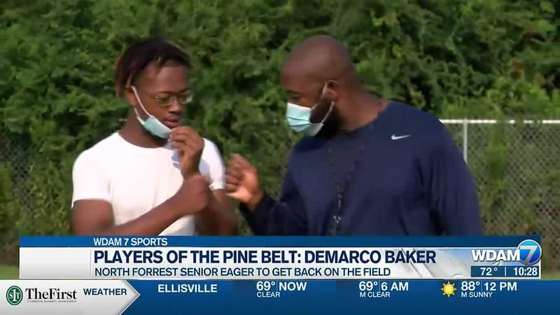 Demarco Baker and head coach Milton Talbert