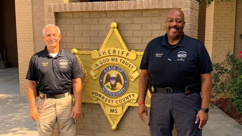 Forrest County Sheriff Charlie Sims and Lt. Terrell Carson.
