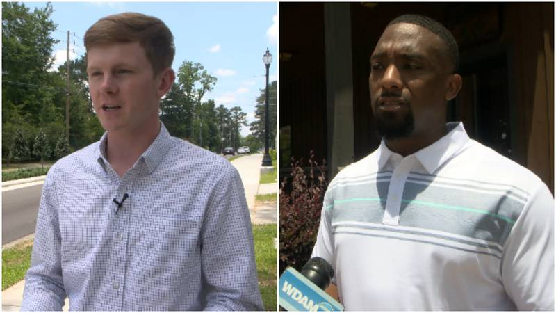 Incumbent Jeffrey George (left) will face Ken Chambers (right) in the June 8 election.