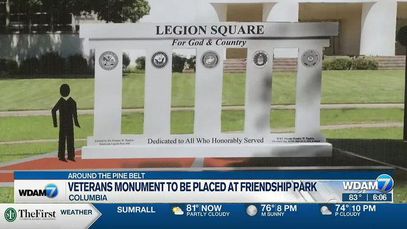 A dedication ceremony is scheduled for 10 a.m. on July 3 for the monument.
