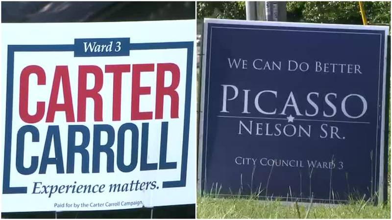 Picasso Nelson Sr. challenges incumbent Carter Carroll.
