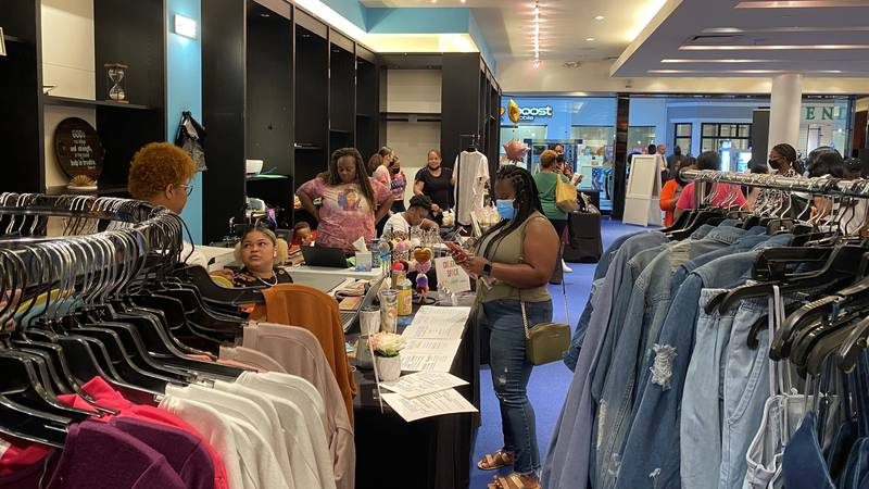 The pop-up shop in Turtle Creek Mall.