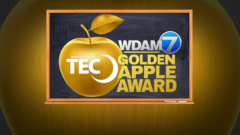 Pine Belt it's time to present to you this month's TEC, WDAM 7 GOLDEN APPLE AWARD WINNER....