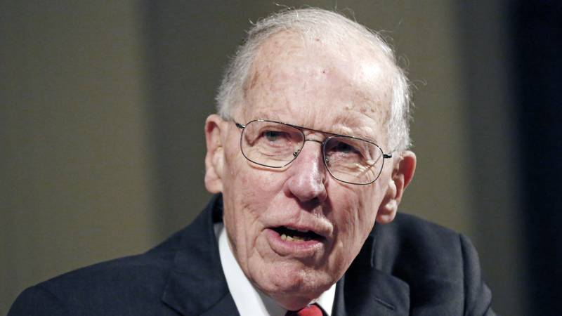 FILE - In this Feb. 19, 2013 file photo, former Gov. William Winter speaks at a symposium on...