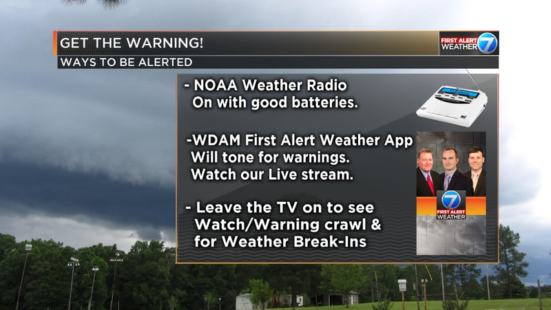 Do not rely on tornado sirens to alert you of a warning if you are inside.