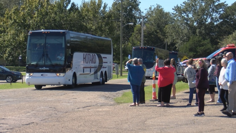 The South Jones High School Marching Band is welcomed home Sunday after winning top honors at a...