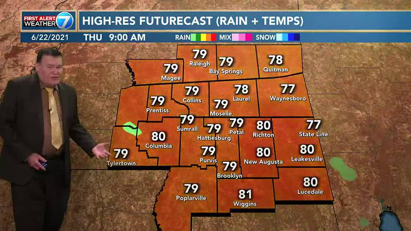 On Wednesday, skies are expected to be partly cloudy with a 40% chance for mainly afternoon and...