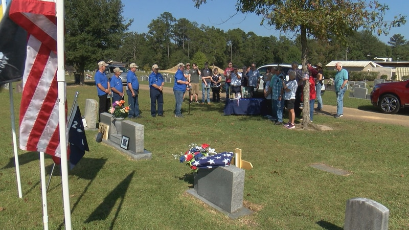 Veterans of Charlie Company, 2nd Battalion, 506th Infantry host a memorial service for fellow...