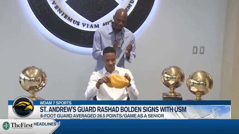 Rashad Bolden signs with Southern Miss.