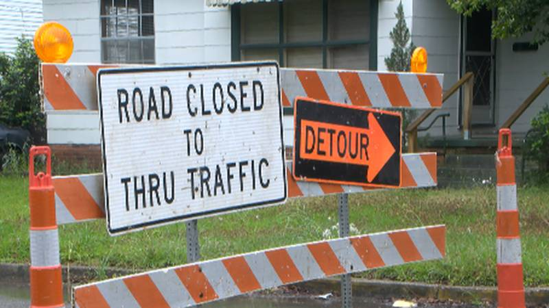 West 7th Street will be closed from Melba Avenue to Rawls St. for about a month.