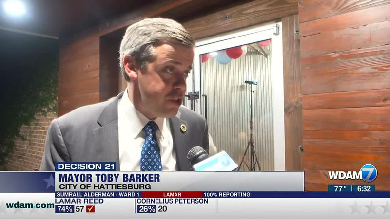Toby Barker clinched a second term as Hattiesburg's mayor on Tuesday with an overwhelming win...