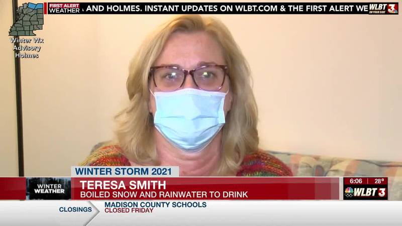 Jackson woman resorts to melting snow to drink in order to take her medications