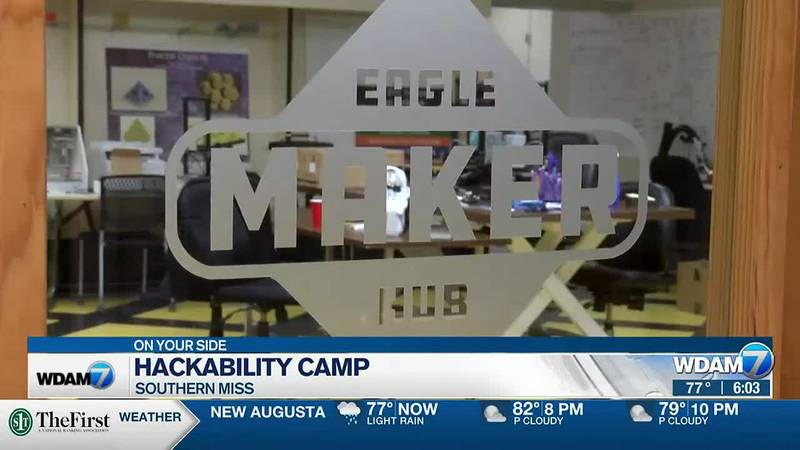 The camp was held at the Eagle Maker Hub and it was designed for students who are mobility...