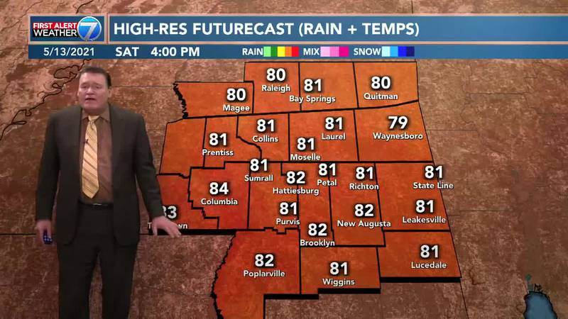 On Friday, you can expect a very nice day with highs in the mid to upper 70s.
