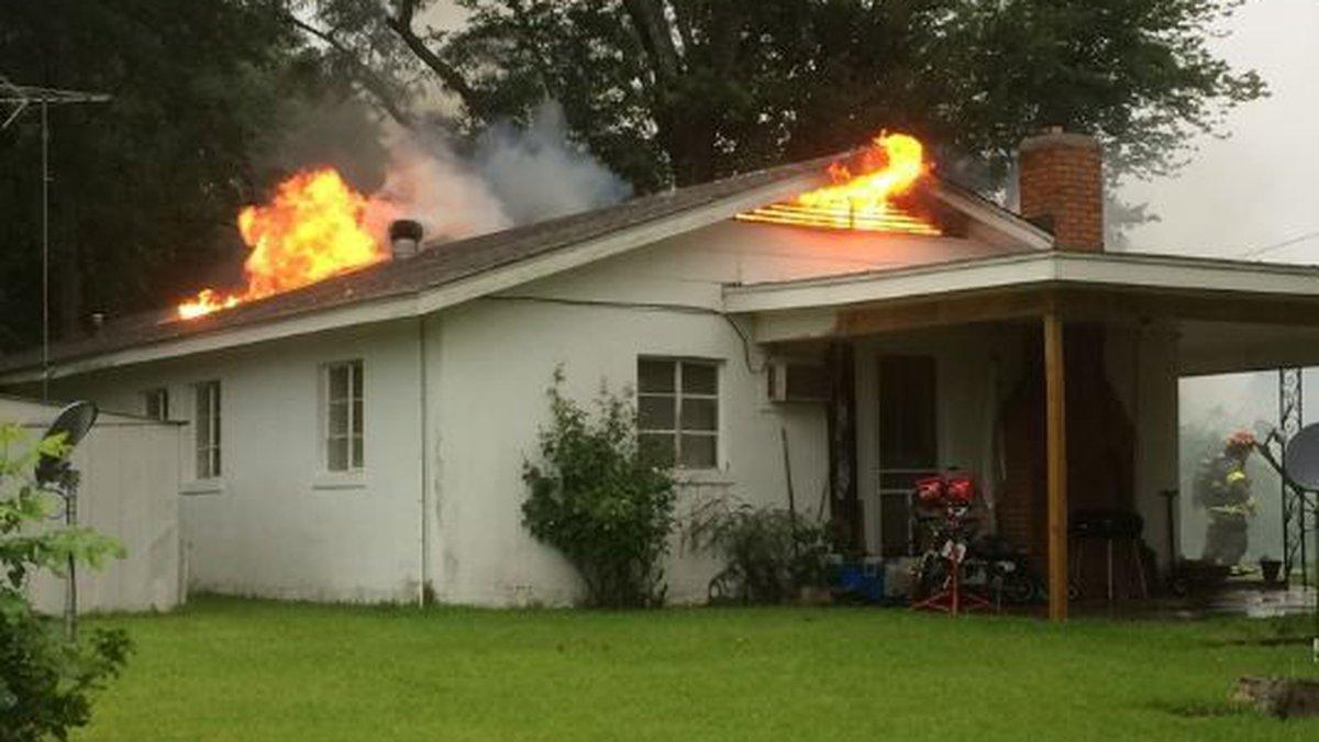 House fire at 205 Burnt Bridge Road./Photo credit: Kathy Bailey
