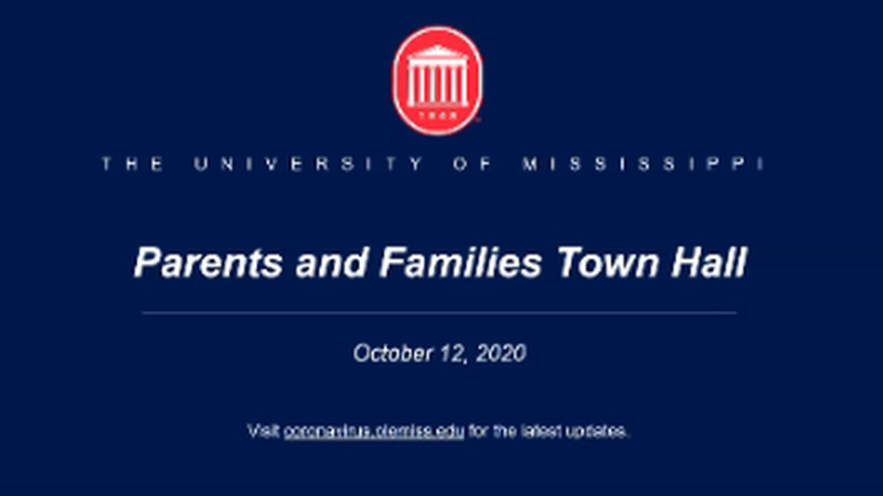 Ole Miss Parents and Families Town Hall introduction