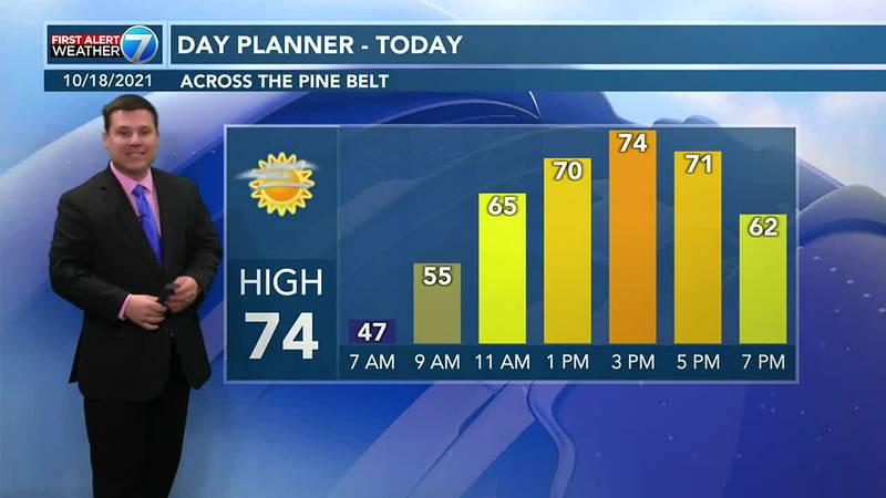 Patrick's Monday AM Forecast 10/18