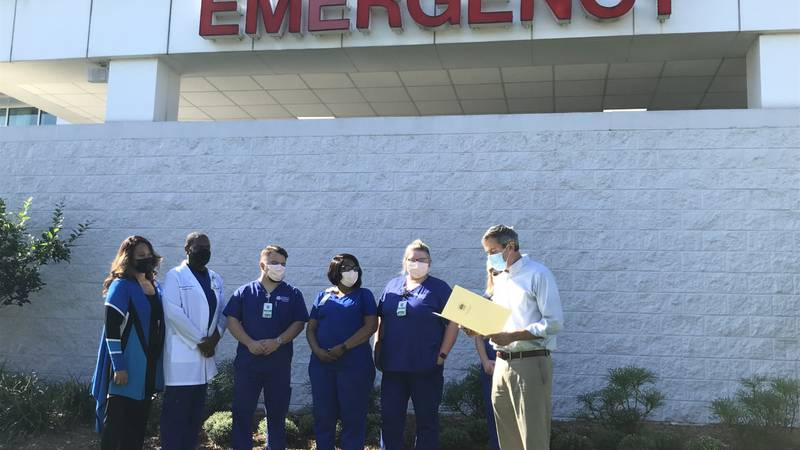 Tuesday morning, Hattiesburg Mayor Toby Barker issued a proclamation at Forrest General...