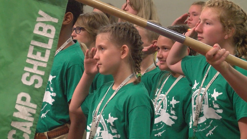 More than 70 children from across Mississippi participated in Kids A.T. at Camp Shelby.