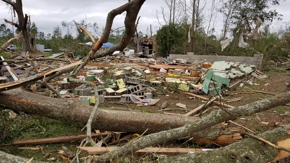 Tornadoes ripped across Mississippi, with some of the worst damage being seen in Walthall County.