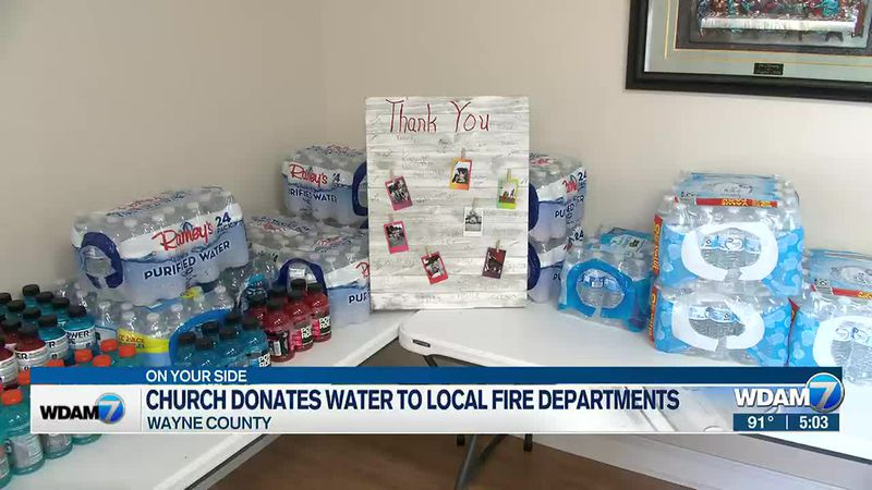 A Wayne County church has been taking donations to help their local volunteer fire departments...