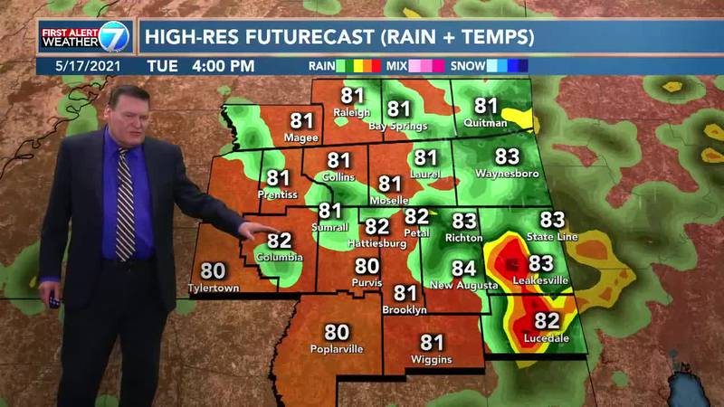 Partly cloudy skies are expected for most of the week in the Pine Belt before turning sunny for...