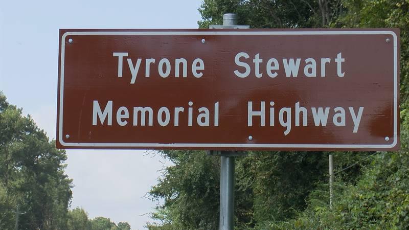 Tyrone Stewart Memorial Highway in Jones County.