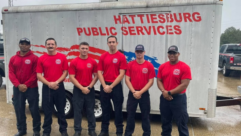 six Hattiesburg firefighters return home from a 14-day mission in Louisiana helping with...