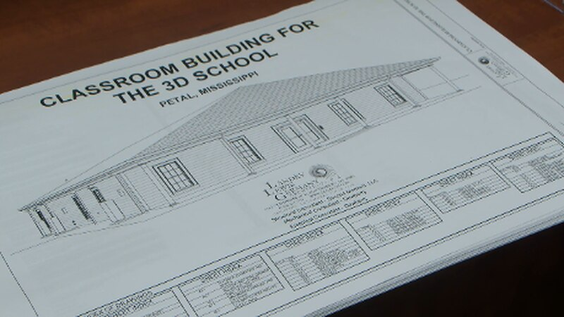 The new building will house six classrooms.