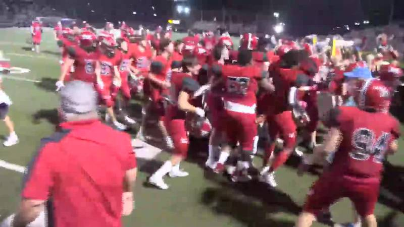 Petal Panthers celebrate after their overtime victory over Hattiesburg.
