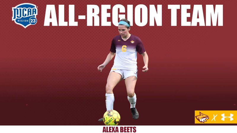 PRCC defender Alexa Beets earned a second postseason recognition recently, earning All-Region...