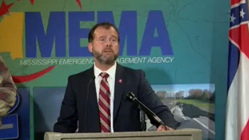 MEMA Director Gregory Michel addresses flooding emergency