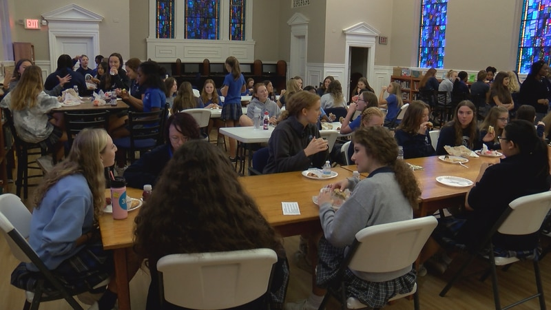 """A """"Breakfast of Champions"""" was held Wednesday for girls involved in a new mentor program at..."""