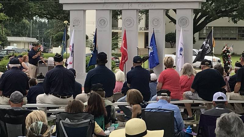 Hundreds gathered at Friendship Park in Columbia Saturday for the dedication of a monument to...