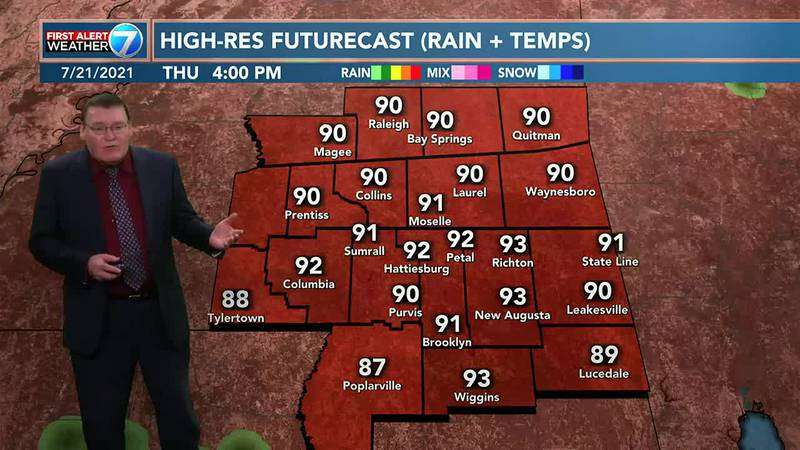 On Thursday you can expect partly cloudy skies with a 30% chance for an isolated shower or...