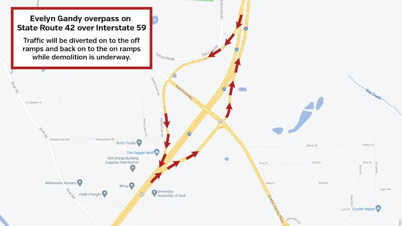 Both north & southbound traffic will be detoured off the interstate at Exit 66 Friday and...