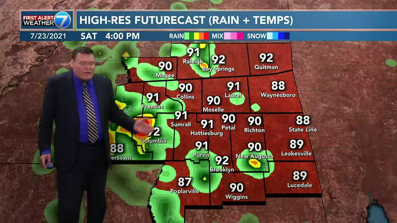 It is going to be hot and humid this weekend with a chance for mainly afternoon and early...
