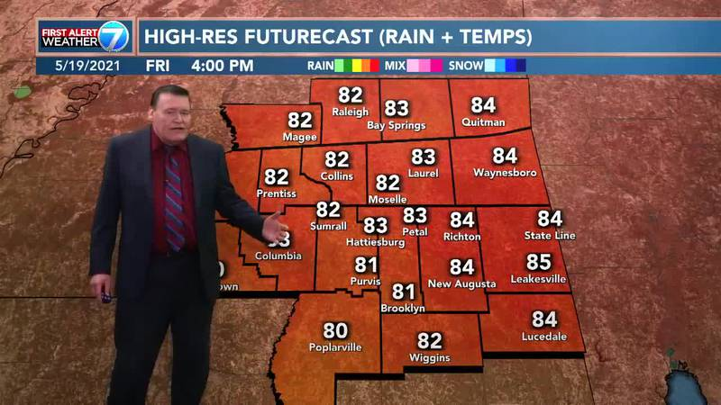 During the day on Thursday, you can expect a 30% chance for isolated showers with highs in the...
